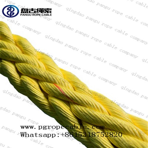 Qingdao pangu 64mm high strength uhmwpe anchor line mooring rope mooring lines