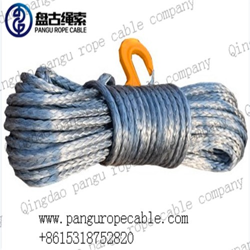 synthetic 4x4 winch rope with hook thimble sleeve packed as full set winch rope