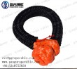 Qingdao  pangu 12 braid 10mm orange soft shackle for tow rope