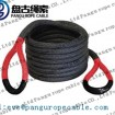pangu black PU Coating kinetic recovery rope