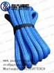 pangu blue PU Coating heavy duty tow strap  nylonkinetic rope with black eyes