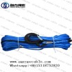 pangu 10mm blue synthetic plasma winch rope with black hook for MINI winch